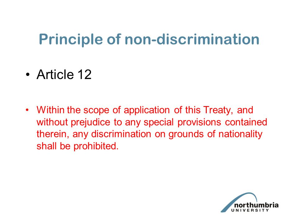 Principle of non-discrimination