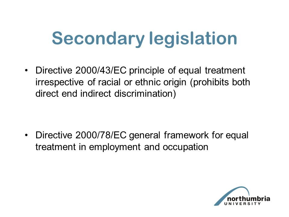 Secondary legislation