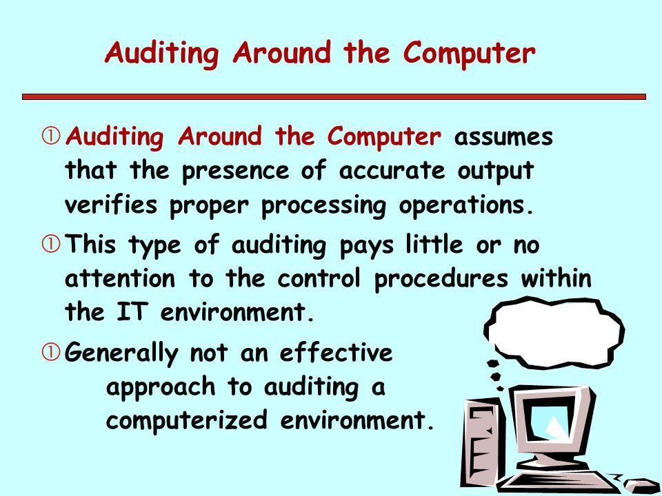 Auditing Around the Computer
