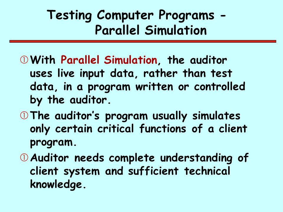 Testing Computer Programs - Parallel Simulation
