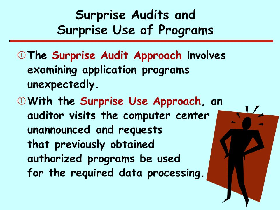 Surprise Audits and Surprise Use of Programs