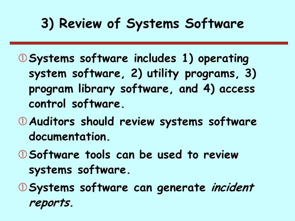 3) Review of Systems Software
