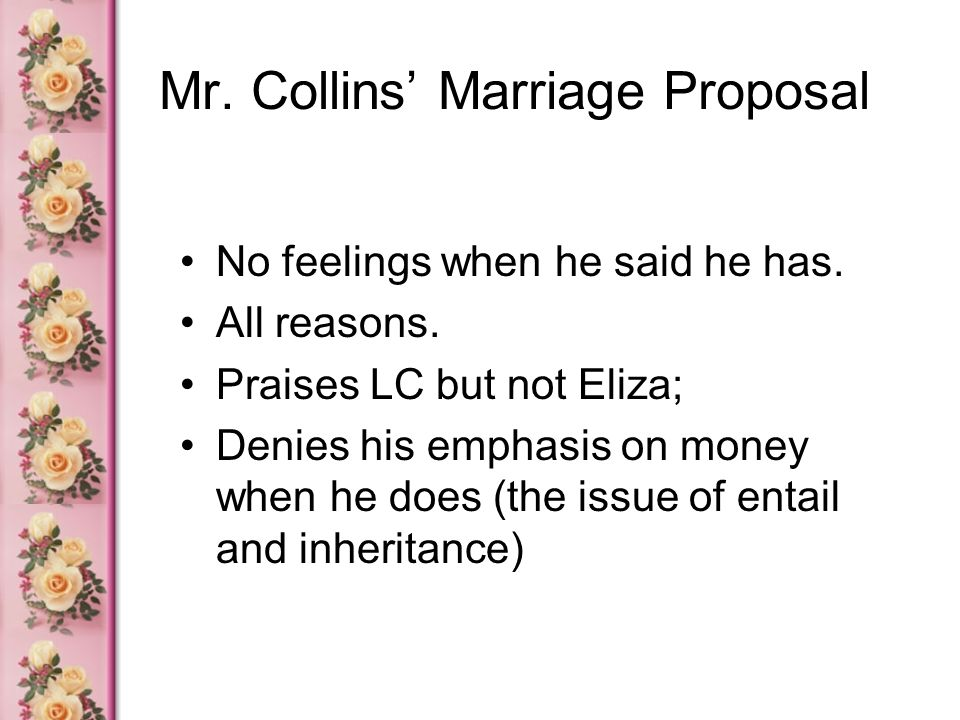 Mr. Collins' Marriage Proposal