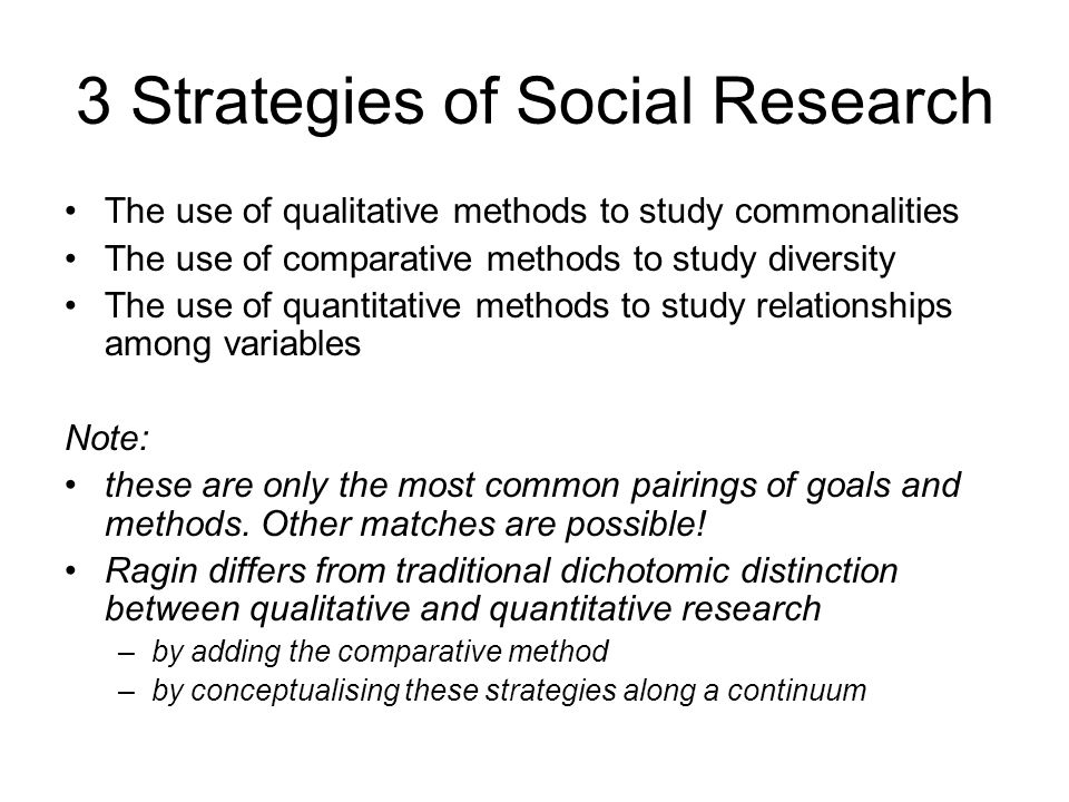 3 Strategies of Social Research