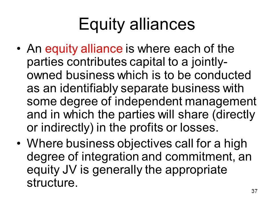 Equity alliances