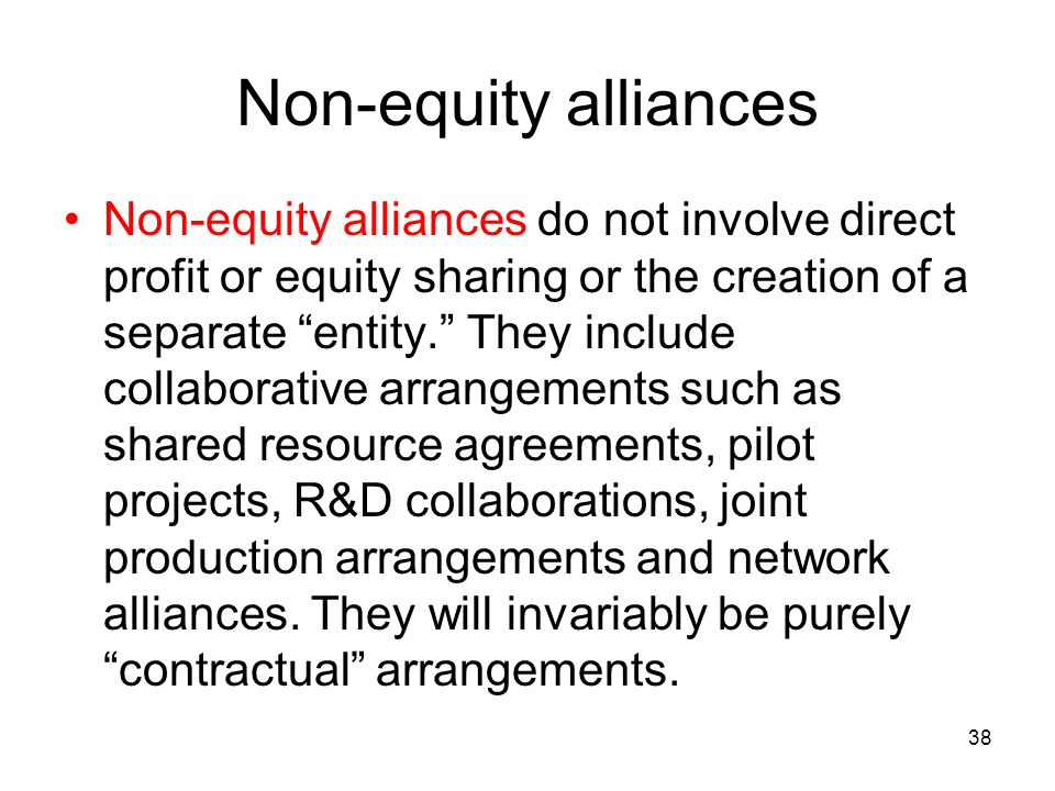 Non-equity alliances