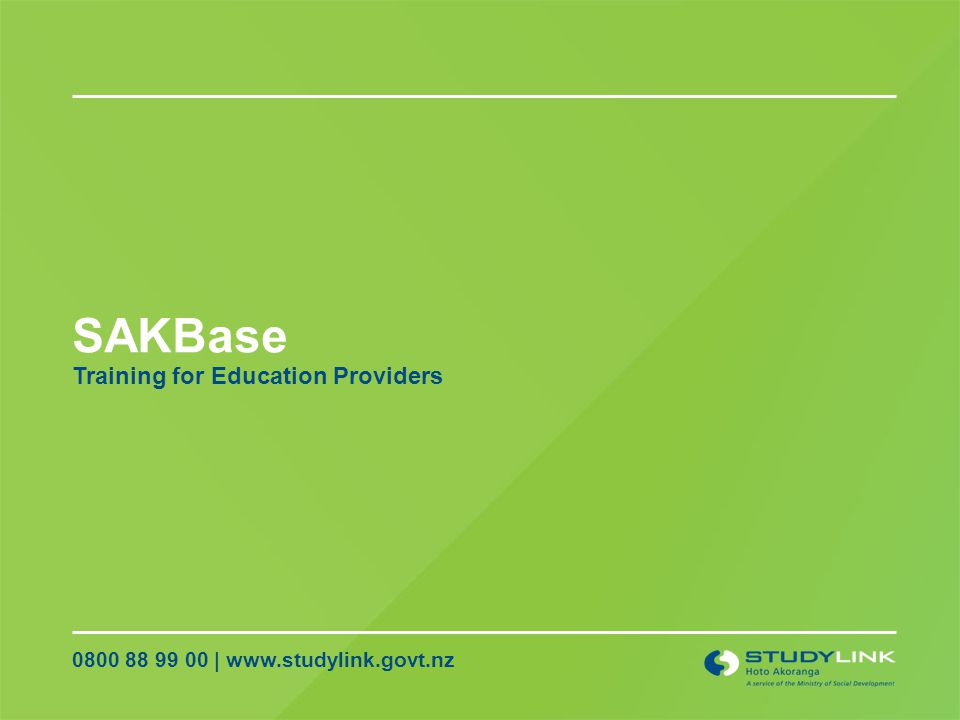SAKBase Training for Education Providers