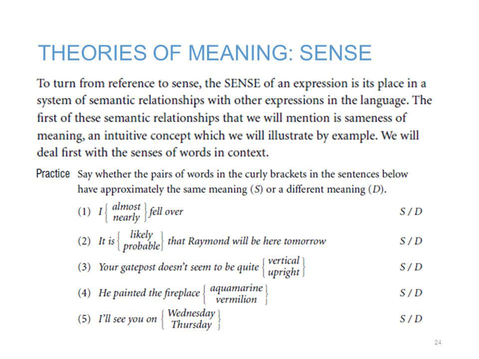 theories of meaning Semantics : theories of meaning in generative grammar by janet d fodor light shelf wear and minimal interior marks millions of satisfied customers and climbing.
