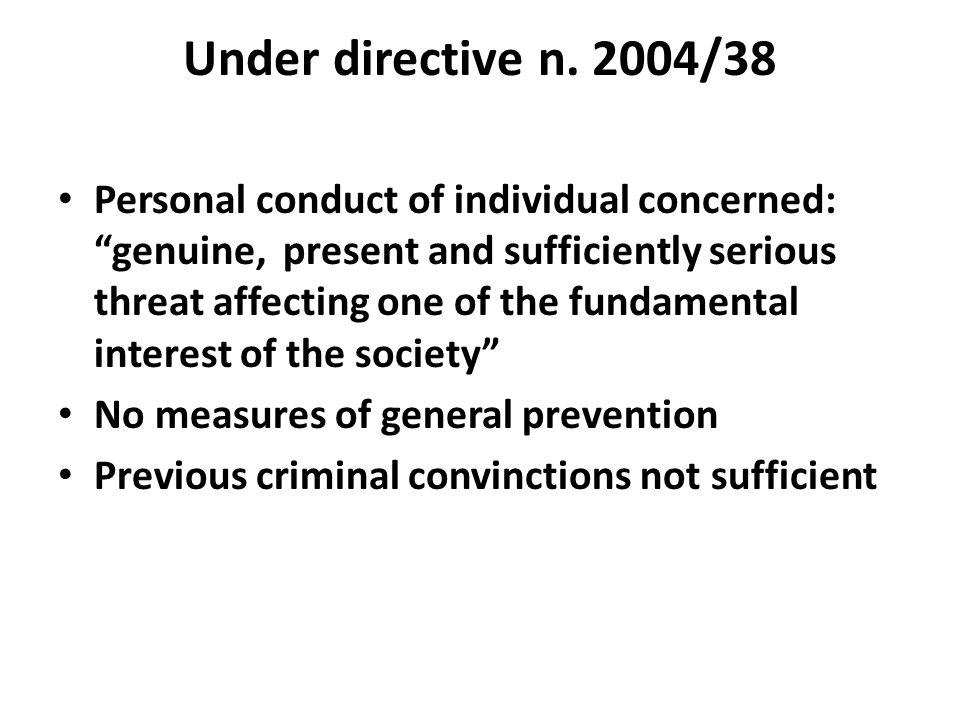 Under directive n. 2004/38