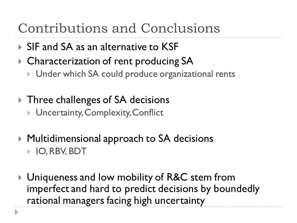 Contributions and Conclusions