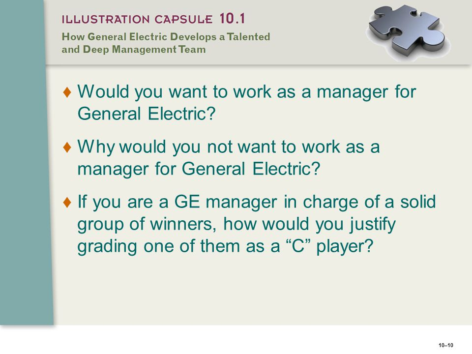 Would you want to work as a manager for General Electric