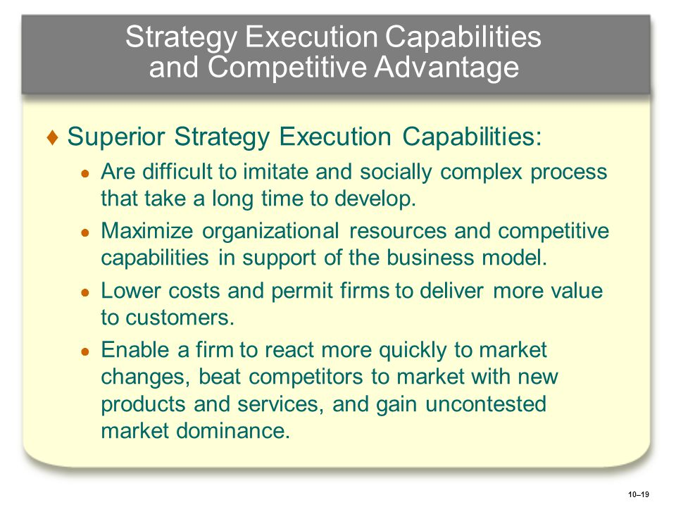 Strategy Execution Capabilities and Competitive Advantage