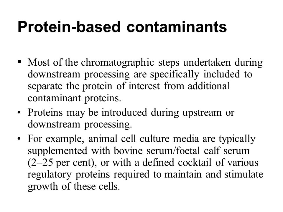 Protein-based contaminants