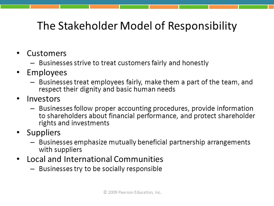 The Stakeholder Model of Responsibility