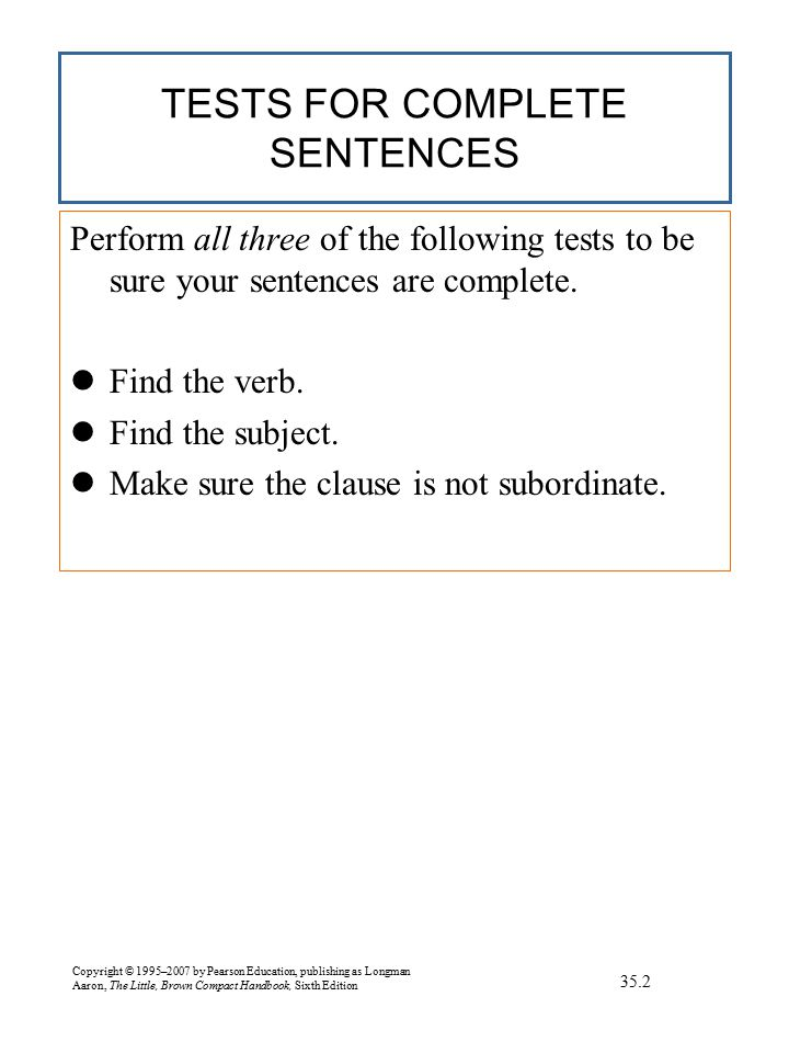 EXERCISE Revising Sentence Fragments