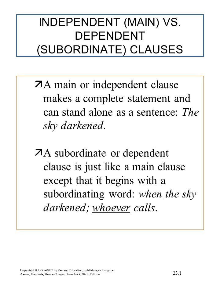 EXERCISE Sentence combining: Sentence structures
