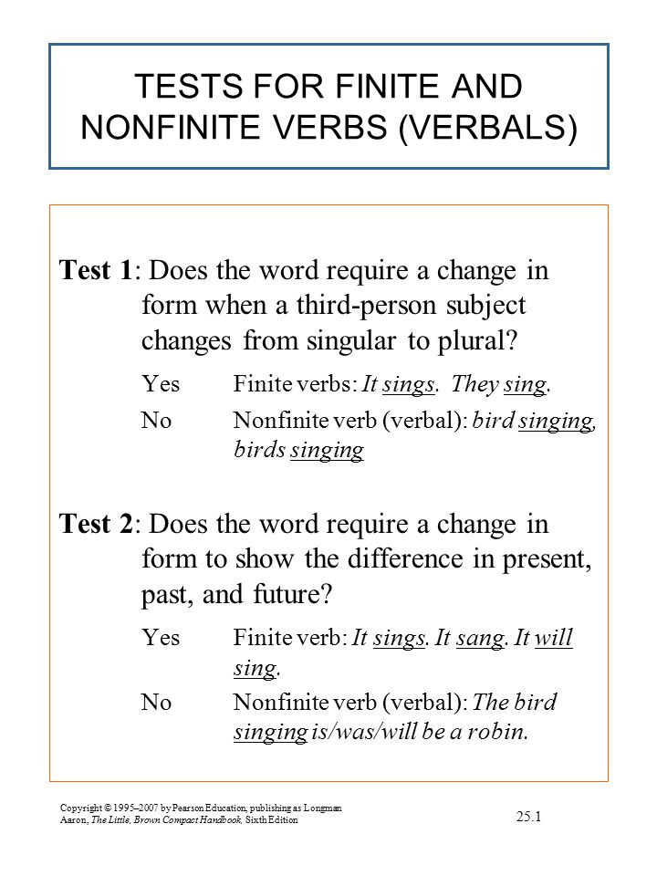 TERMS USED TO DESCRIBE VERBS
