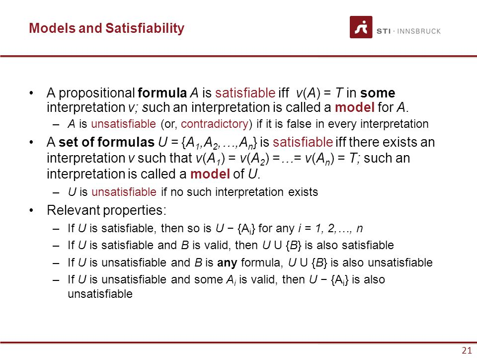 Models and Satisfiability