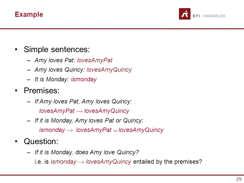 Premise examples sentences. Phl 320 week 2 individual assignment.