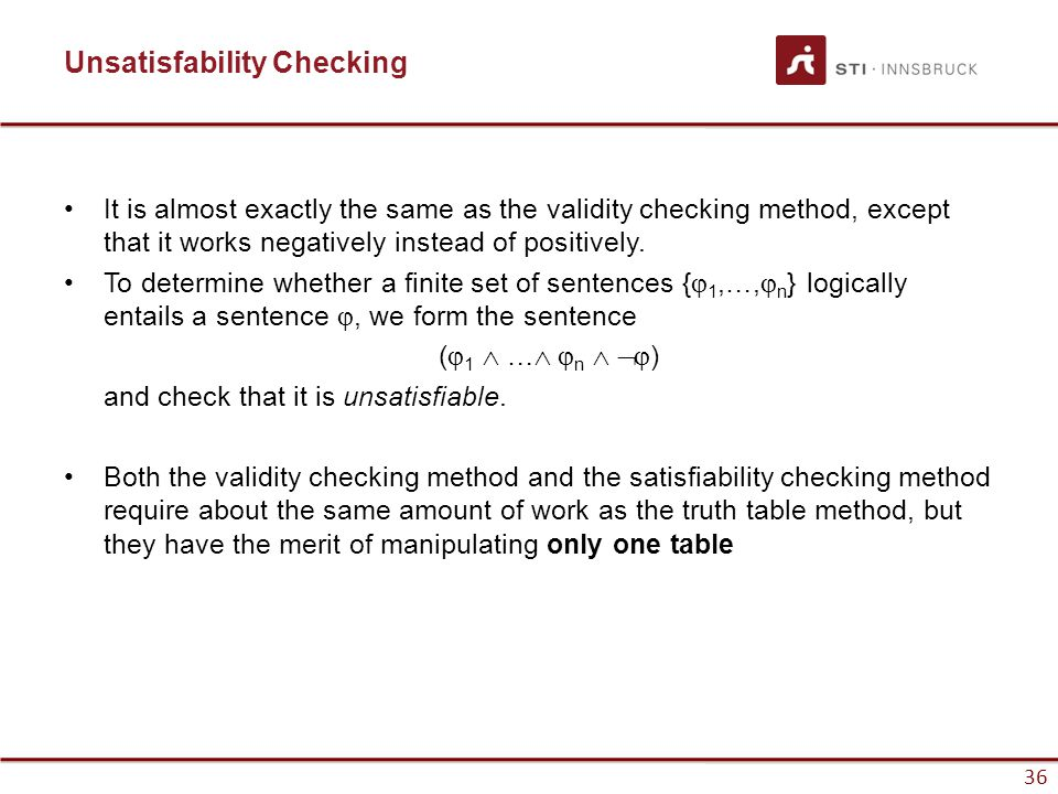 Unsatisfability Checking