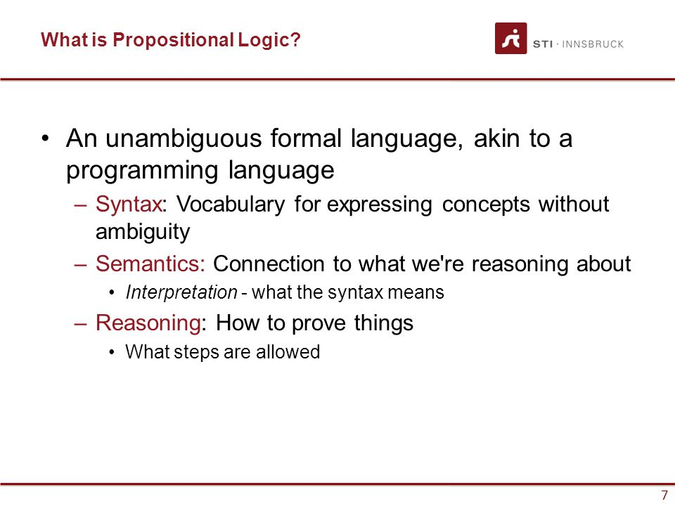 What is Propositional Logic