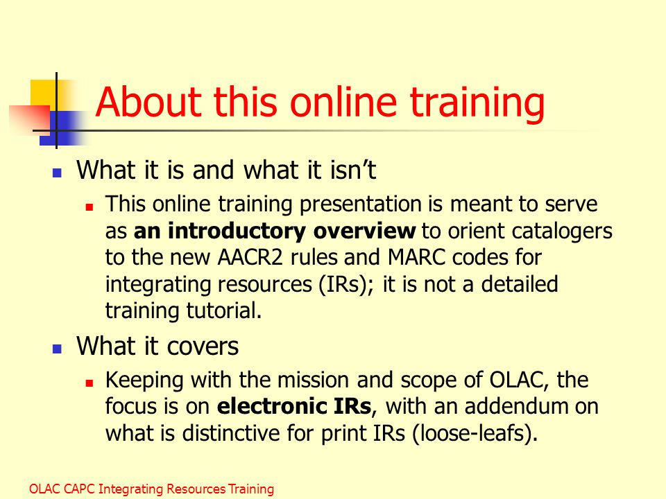 About this online training