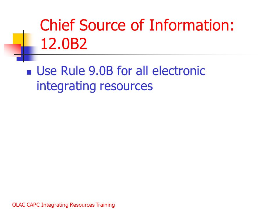 Chief Source of Information: 12.0B2