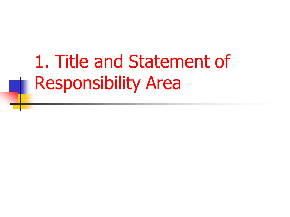 1. Title and Statement of Responsibility Area