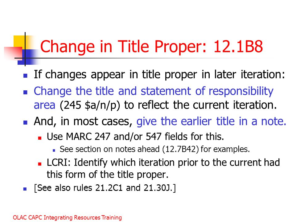Change in Title Proper: 12.1B8