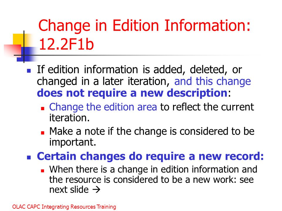Change in Edition Information: 12.2F1b