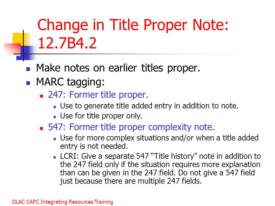 Change in Title Proper Note: 12.7B4.2