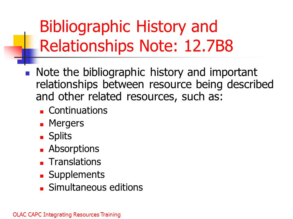 Bibliographic History and Relationships Note: 12.7B8