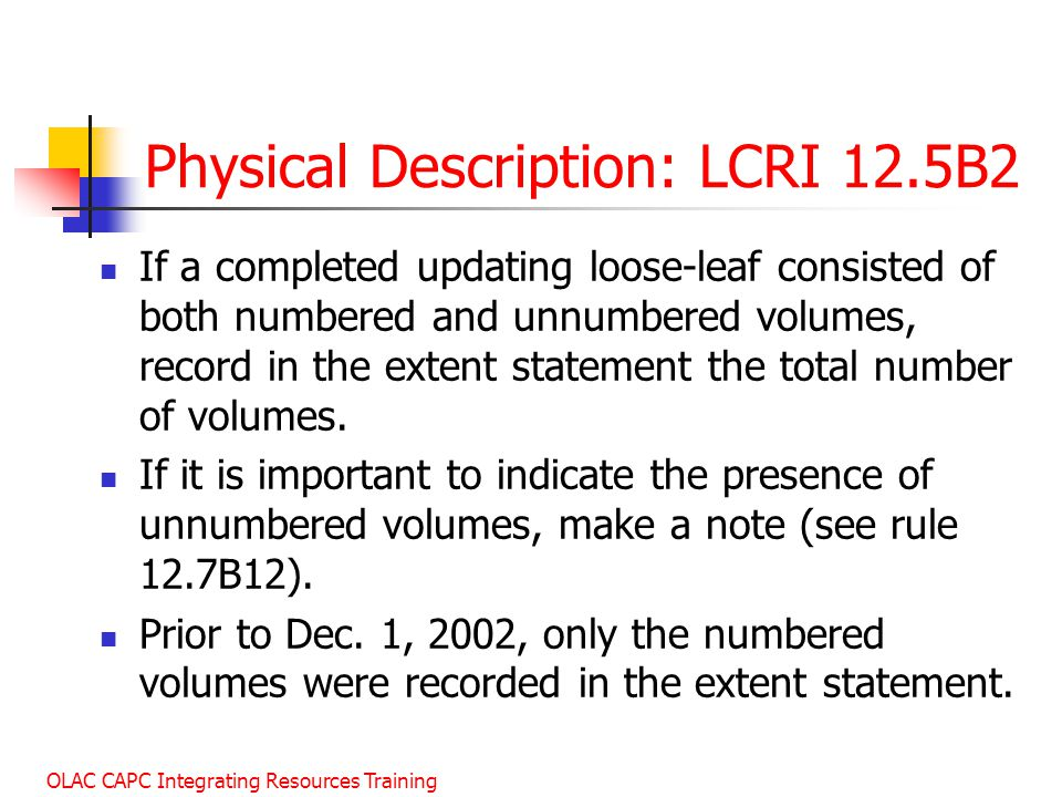Physical Description: LCRI 12.5B2