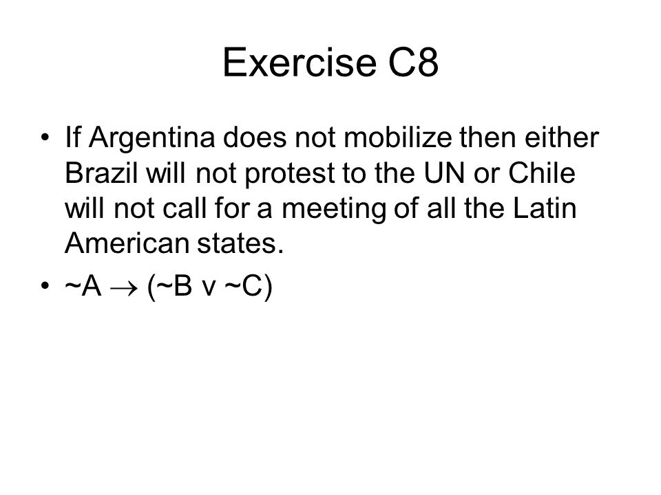 Exercise C8