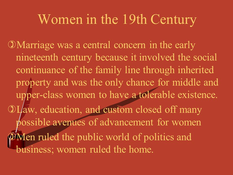 Women in the 19th Century