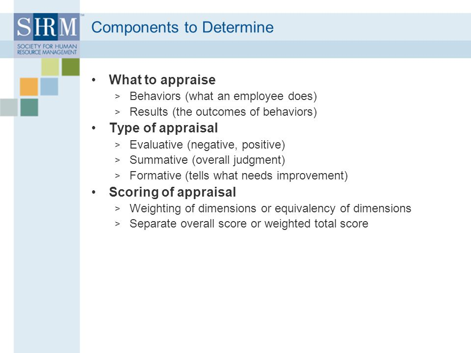 Components to Determine