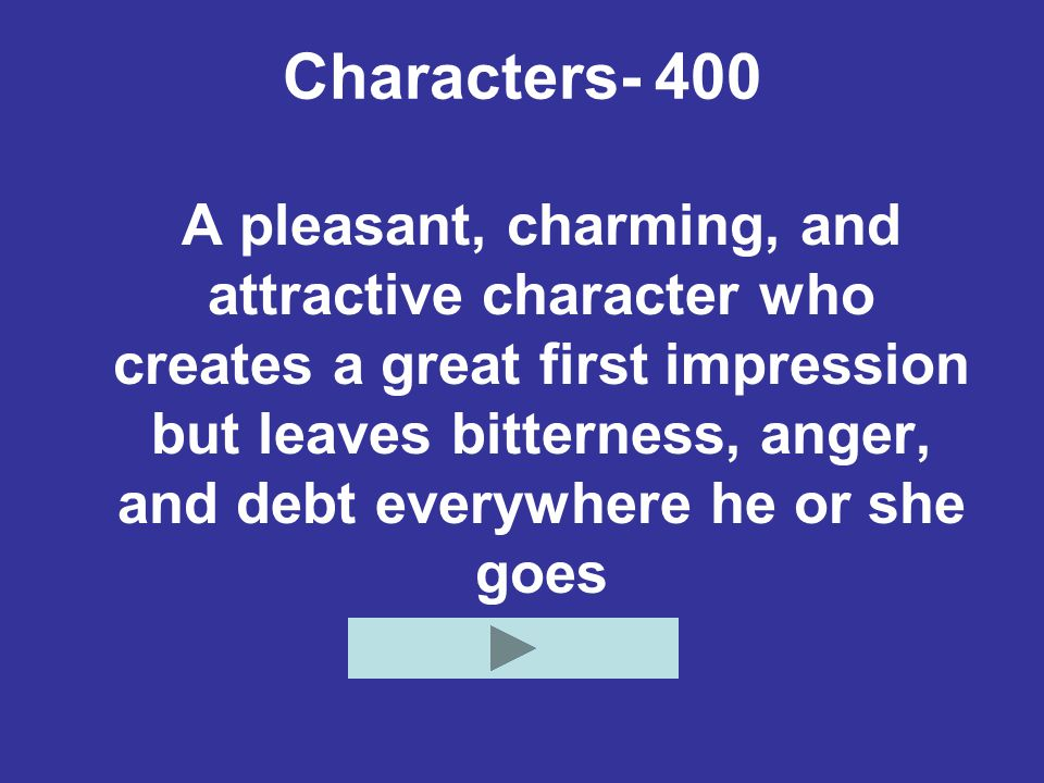 Characters- 400