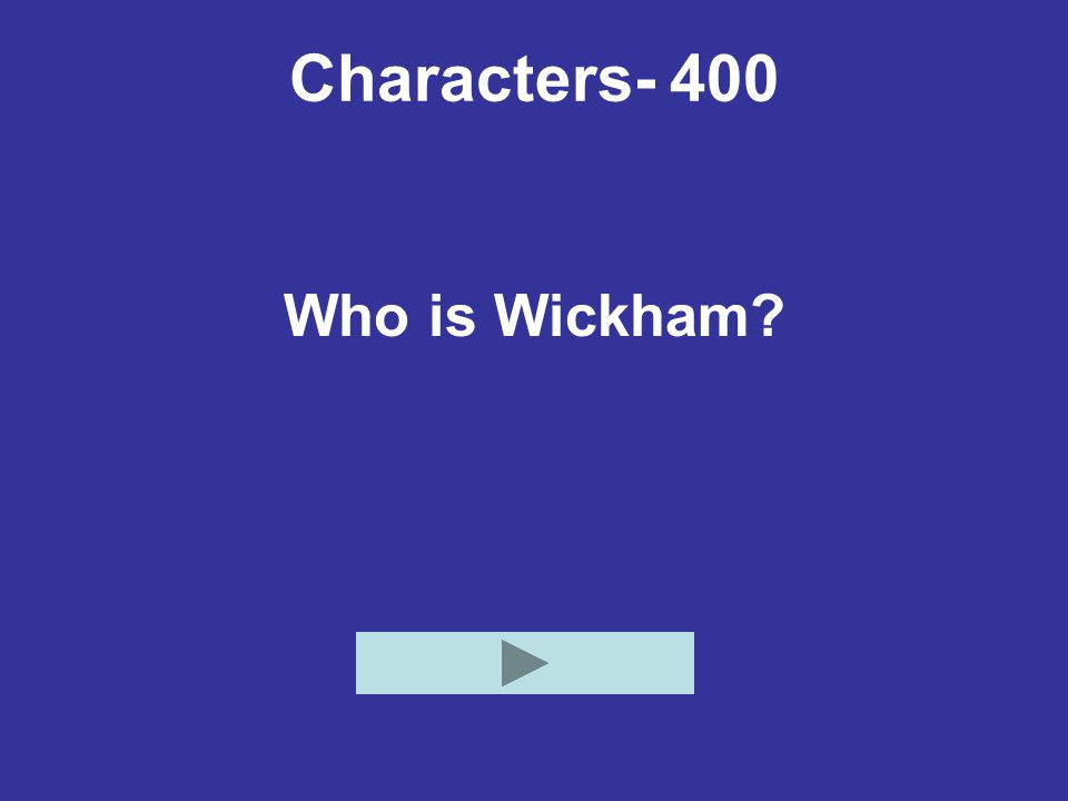 Characters- 400 Who is Wickham