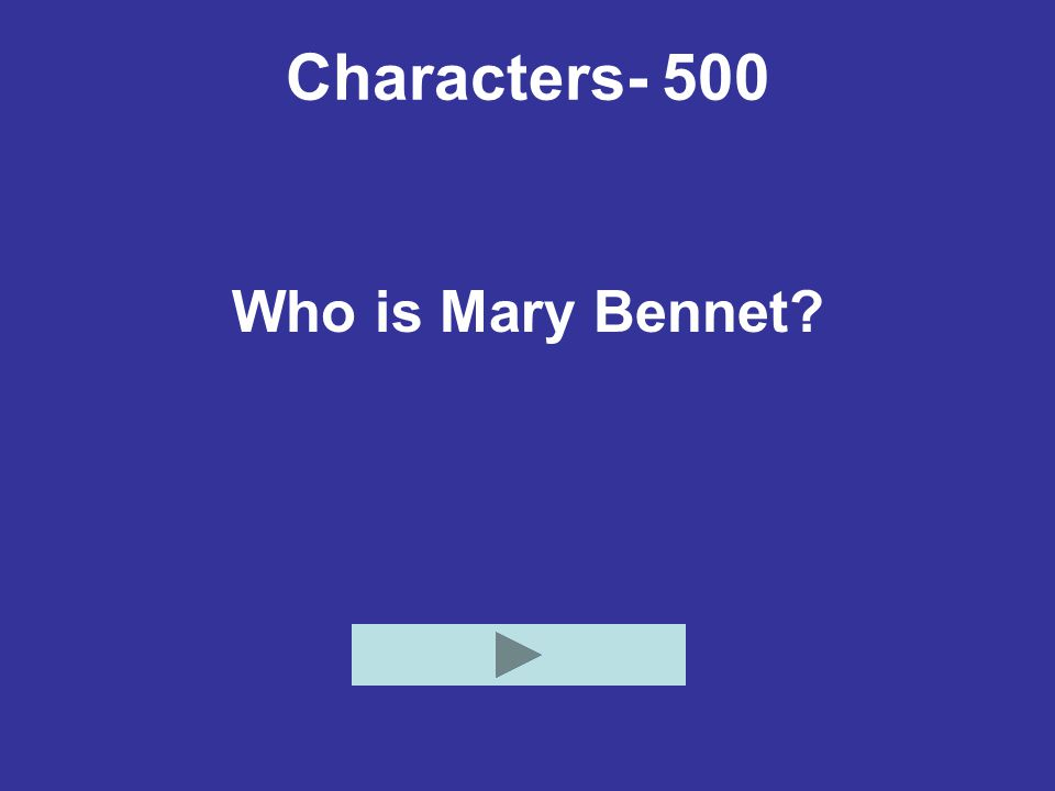 Characters- 500 Who is Mary Bennet