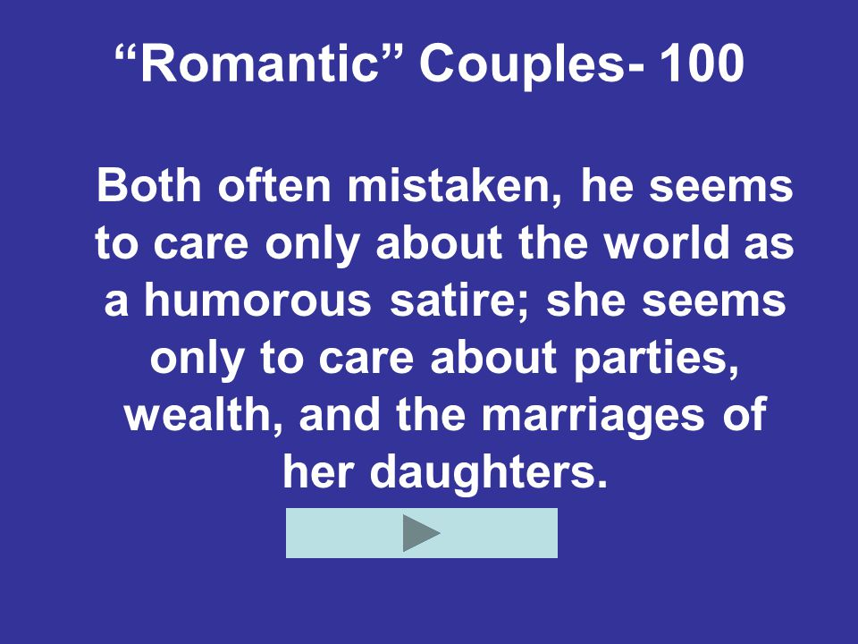 Romantic Couples- 100