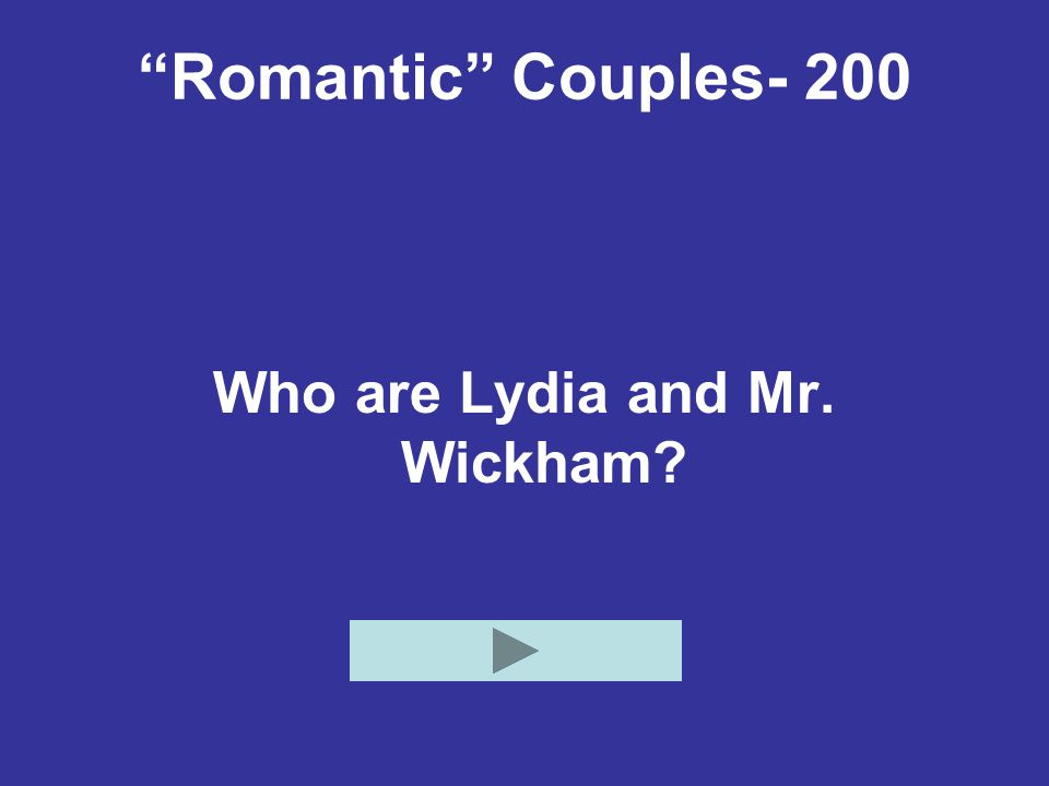 Who are Lydia and Mr. Wickham