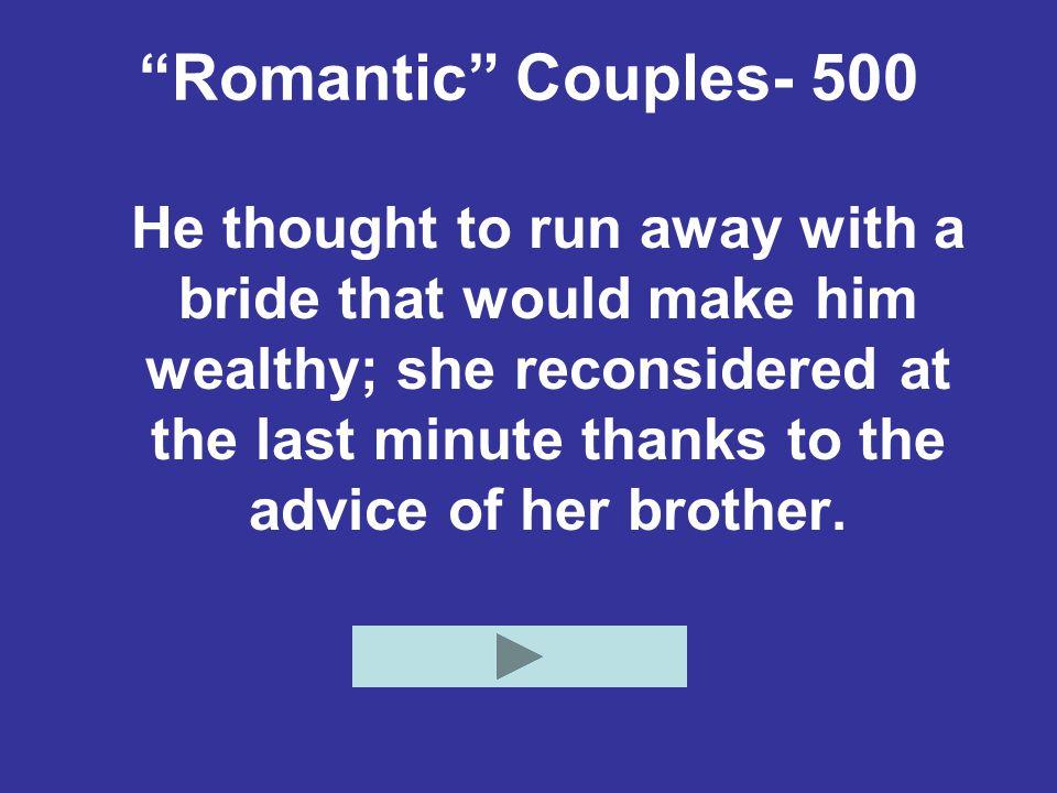 Romantic Couples- 500