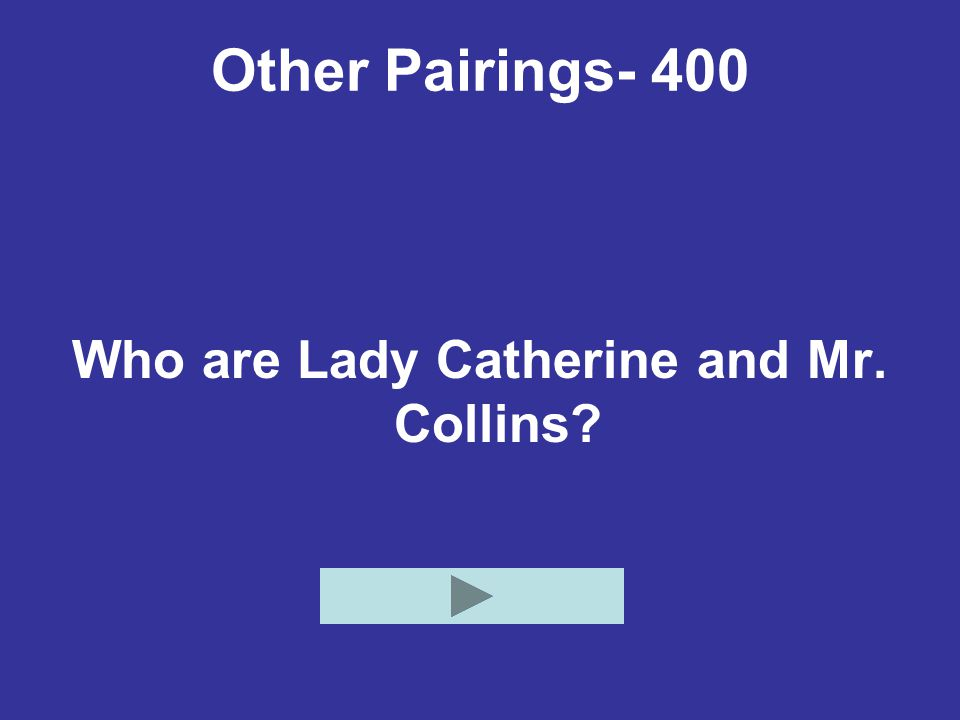 Who are Lady Catherine and Mr. Collins