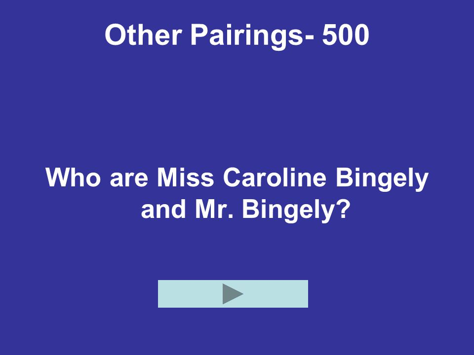 Who are Miss Caroline Bingely and Mr. Bingely