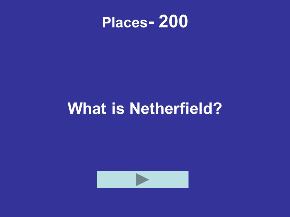 Places- 200 What is Netherfield