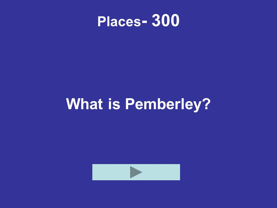 Places- 300 What is Pemberley