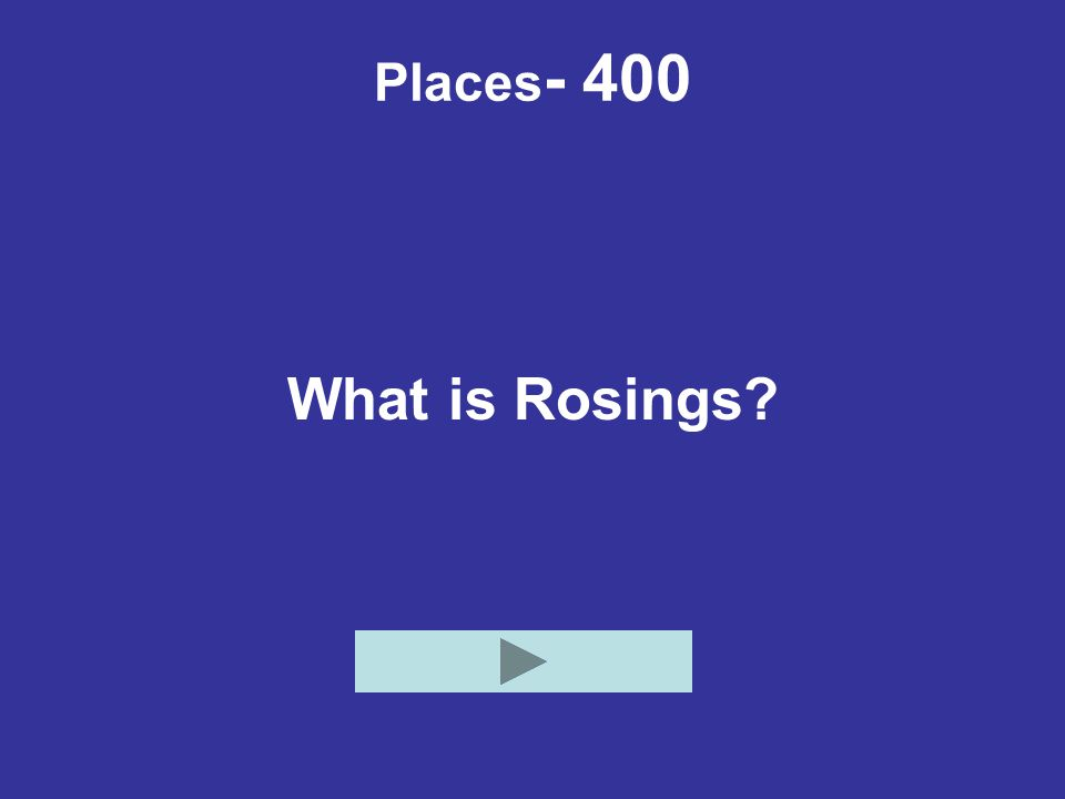 Places- 400 What is Rosings