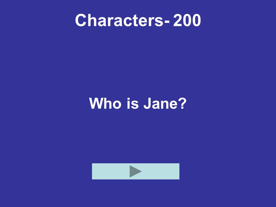 Characters- 200 Who is Jane