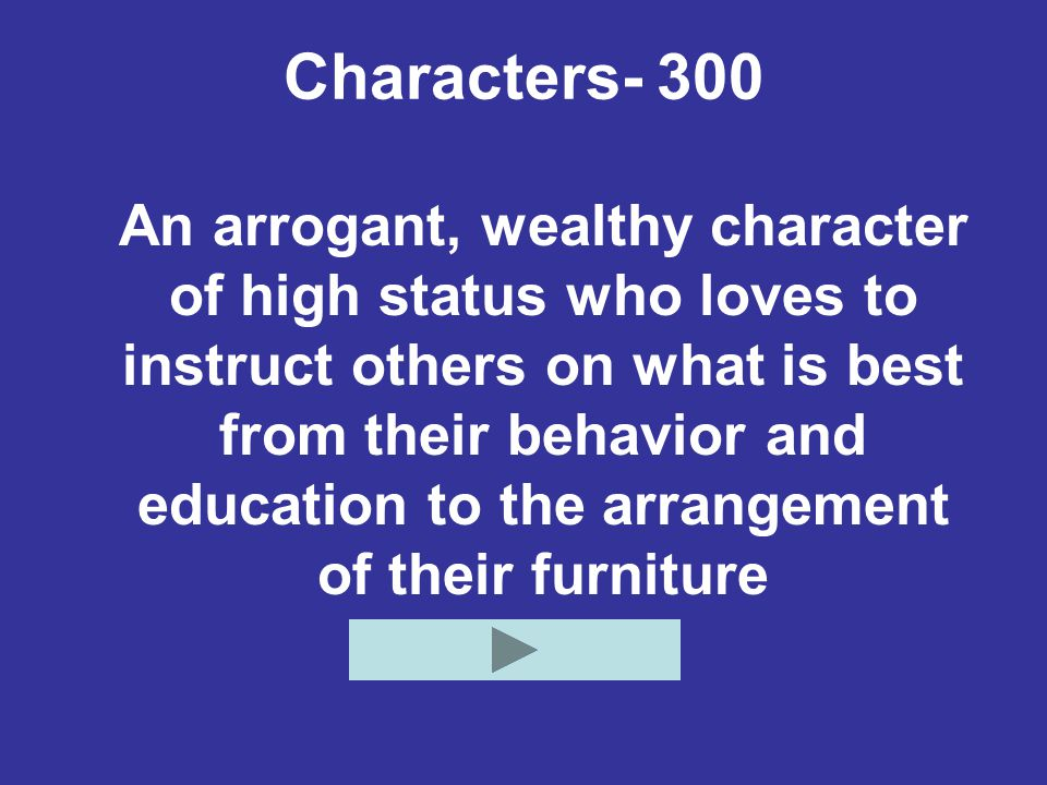 Characters- 300