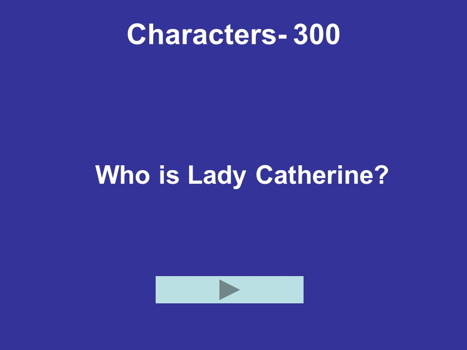 Characters- 300 Who is Lady Catherine
